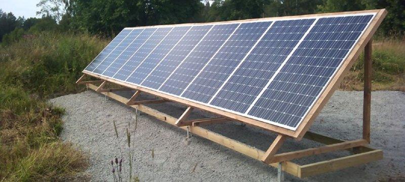 Vår första installation av solceller i Örebro.