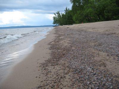 Lång härlig sandstrand i Baskarp.