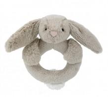 Jellycat  Bashful bunny beige ring skallra kanin