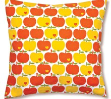 By Graziela örngott, kuddfodral orangea och gula äpplen