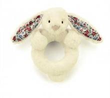 Jellycat bashful blossom bunny ring skallra kanin