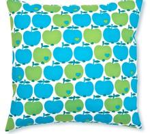 By Graziela örngott, kuddfodral blå och gröna äpplen