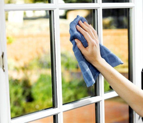 tvätta fönster med ättika