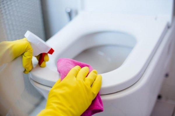 Städning av toalett