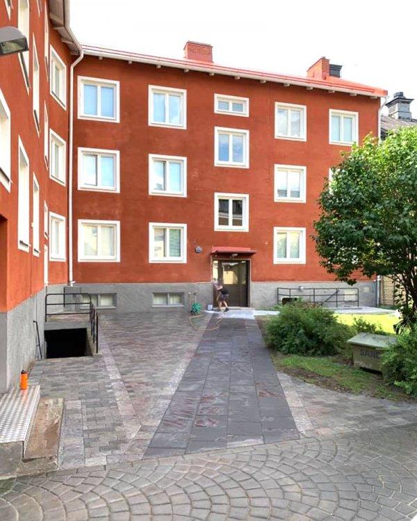 En av många fastigheter där vi har utfört stenläggning i Västerås.