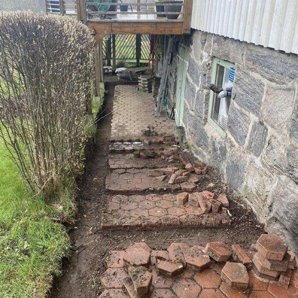Stenläggning i Borås.