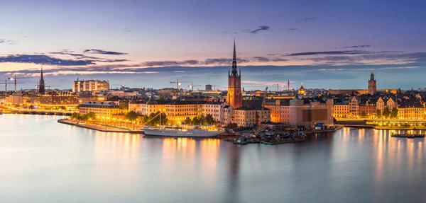 Stockholm i kvällssol