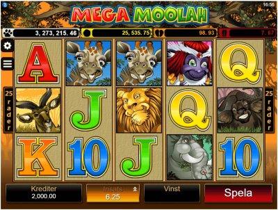 Mega Moolah - Pricka in den enorma jackpotten