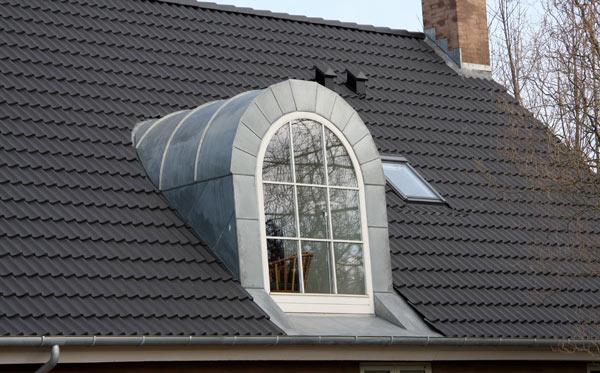 rund takkupa på villa