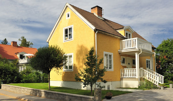 tegeltak på villa i Stockholm