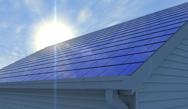 solpaneler på tak