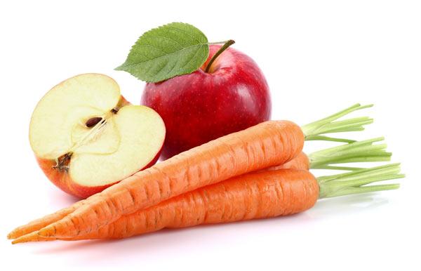 äpplen och morötter