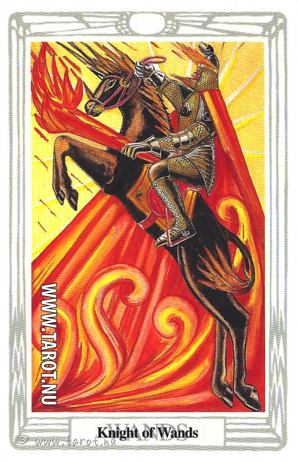 Knekt i Stavar - (Knight of Wands)