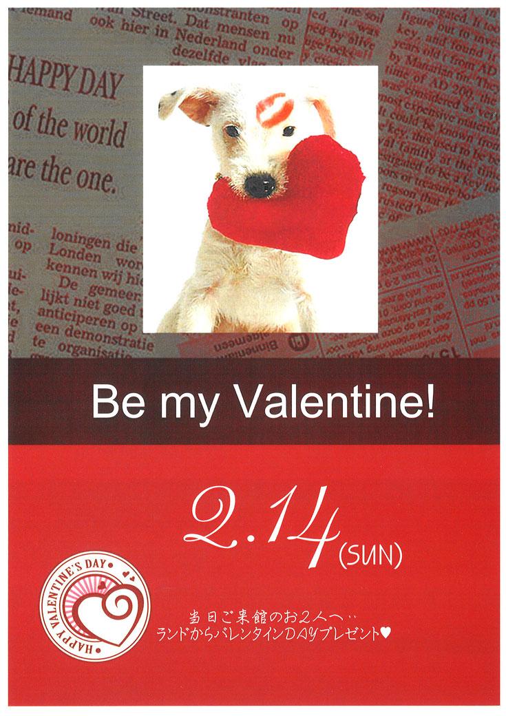 特別な一日あなたのそばで Be my Valentine!
