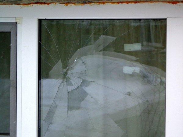 Krossad fönsterruta