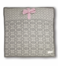 Lovely knit pillow -Grey Melange