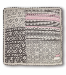 Patchwork pillow  -Grey Melange