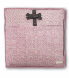 Lovely knit pillow  -Perfait Pink