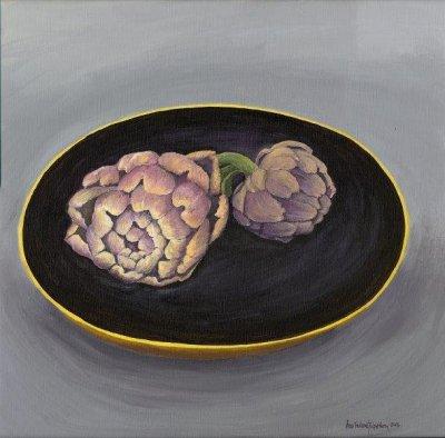 Akvarell Kronärtsskockor