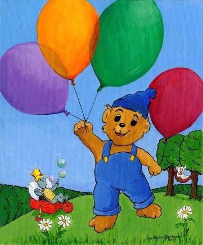 Bamse med ballonger