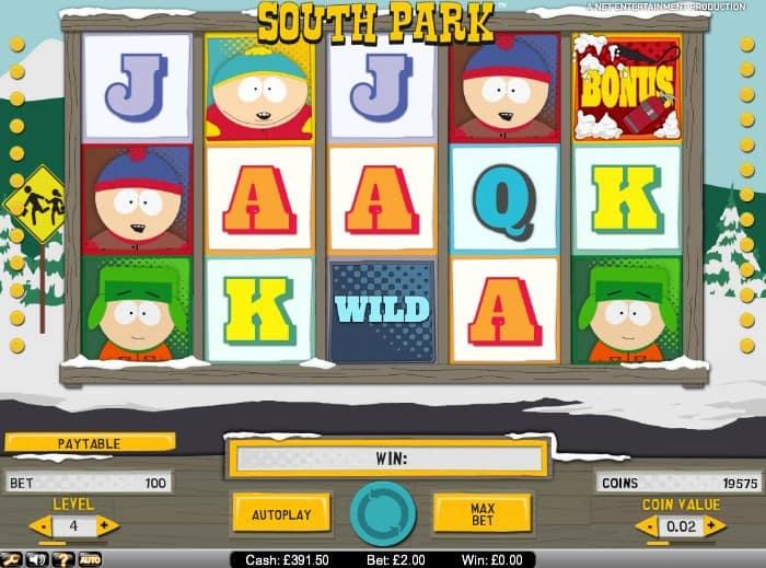 south park spillemaskine tivolispil.com