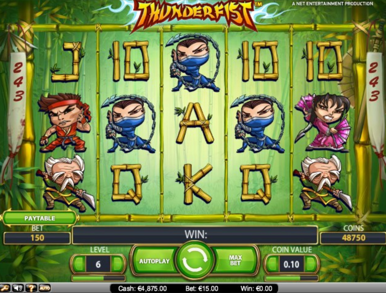Thunderfist online slots med bonuskode