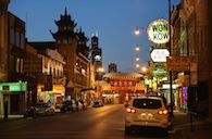 China Town Chicago By Night
