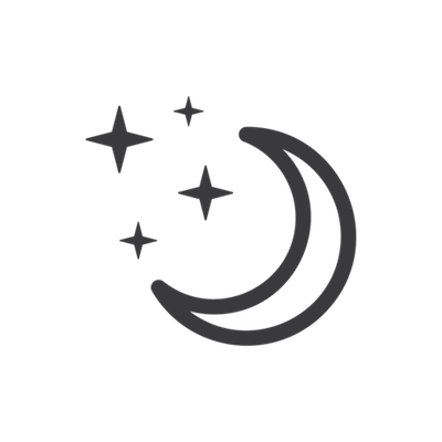 Night with moon and stars-icon
