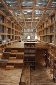 Ett av den vinnande projekten i Nödvändighetens arkitektur. Biblioteket i Liyuan av Li Xiaodong Atelier