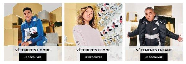 JD Sports France vêtements
