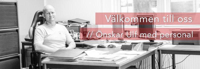 Ulf med personal hjälper kunder att hyra truckar i Västra Götaland.