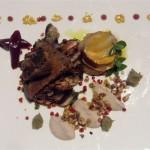 Bombom de veado confitado com foi gras: Flor de sal