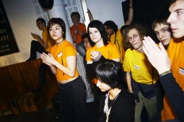 Arrangörer under avslutningen