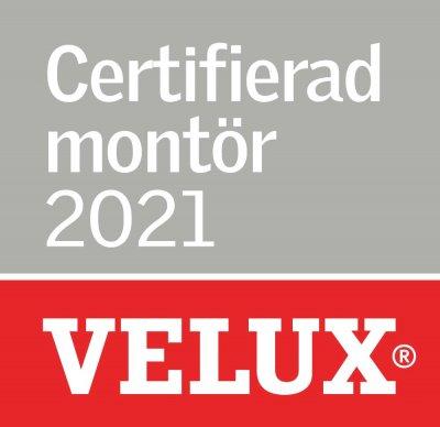 Vi är certifierade montör 2021 av Velux.