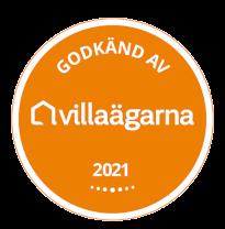 Vi är godkända av Villaägarna.