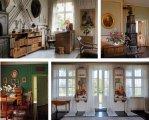 Olika delar av Karen Blixens hem