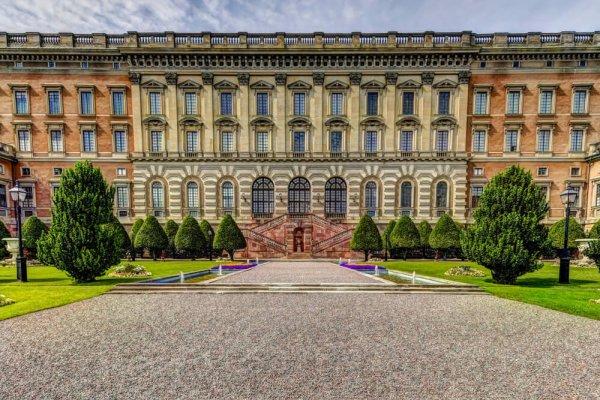 Stockholms slott - fasad med fönster