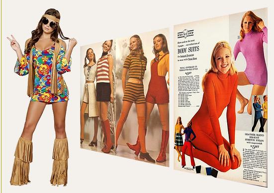 943e1209cc0c Klänningar, skor och frisyr i kvinnor mode 1971.