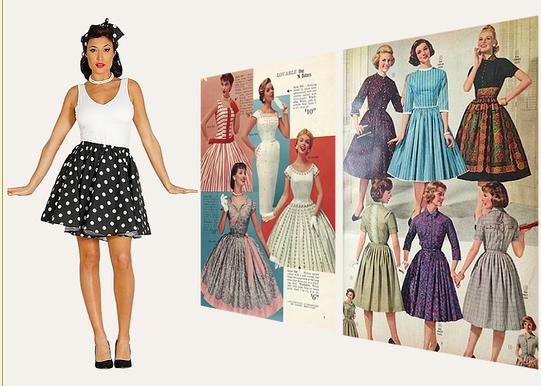 cb830850c5c2 Tillbehör till kvinnor kläder mellan 1951-59.