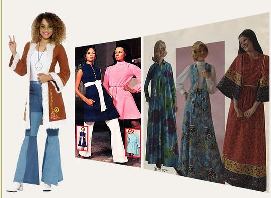 58ea718802ae Etnisk mode:Hippies var också en del av folkstil i sjuttiotalet mode, som  kännetecknas av naturmaterial, ljusa nationella mönster, broderier,  spetsar, ...