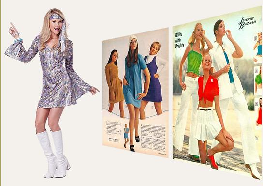 f4e227aec412 Klänningar, skor och frisyr i kvinnor mode mellan 1975-76.