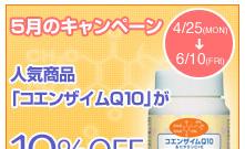 2005年新春キャンペーン!人気商品「コエンザイムQ10」10%OFF