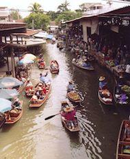 Marchés flottants de Damnoen Saduak