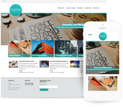 Foster site para Organização de Eventos