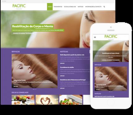 Pacific site para Clínicas de Estética
