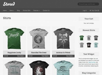 Stored wordpress tema e-handel