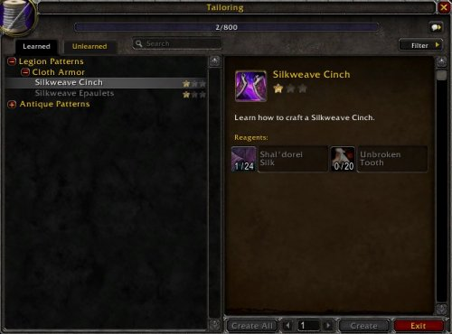 Legion Tailoring Guide | World of Warcraft GamePlay Guides