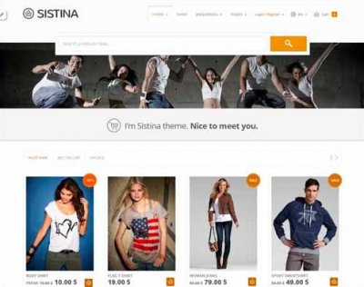 Sistina wordpress tema e-handel