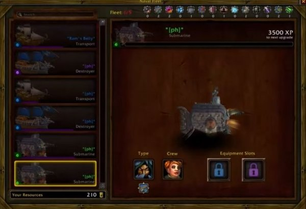 Upgrading ships guide world of warcraft gameplay guides each ship has 2 equipment slots you can unlock the first slot when the ship has rare status you can unlock the second slot when the ship has epic status malvernweather Gallery
