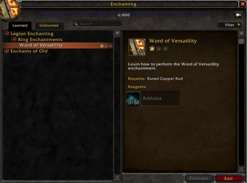 Legion Enchanting Guide   World of Warcraft GamePlay Guides